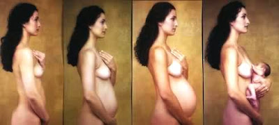 pregnant wife breasts