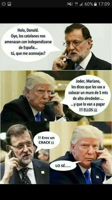 Mariano Rajoy, Donald Trump, Cataluña, independencia, muro