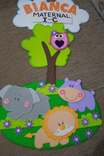 Professora juce decora o para sala de aula maternal safari for Decoracion jardin maternal