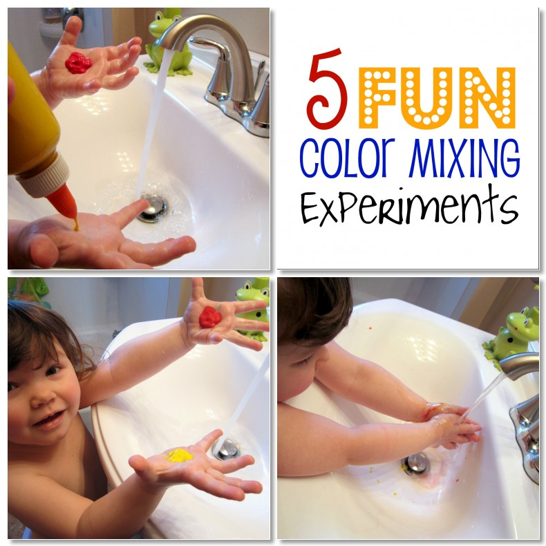 Coloring for Kids color mixing kids : 5 Fun Color mixing Experiments for Preschool Kids • B-Inspired Mama