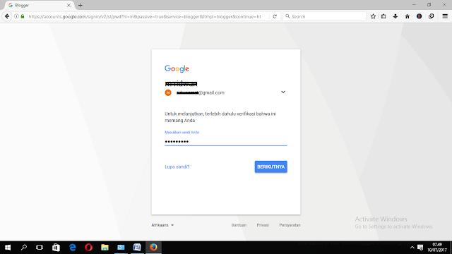 Cara Buat Blog Gratis  Mengunakan Akun Gmail Buatan Google .