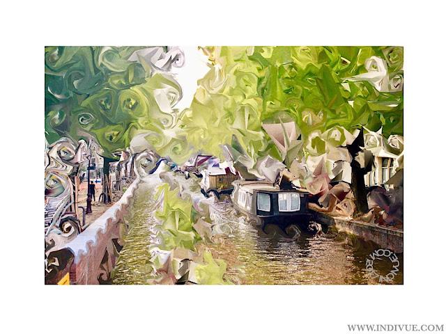 Digimaalaus Amsterdamin kanaalista