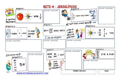 Jeroglíficos, Jeroglíficos para niños, Jeroglíficos con solución, Jeroglíficos escolares, Pasatiempos, Retos Matemáticos, Desafíos Matemáticos, Problemas Matemáticos