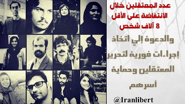 مظاهرات إيران تسفر عن اعتقال أكثر من 8 آلاف مواطن