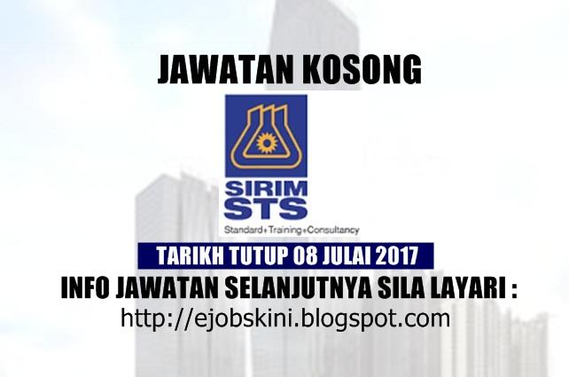 Jawatan Kosong SIRIM STS Sdn Bhd Julai 2017