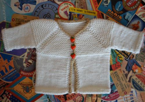 Hello Baby Cardigan - Free Pattern