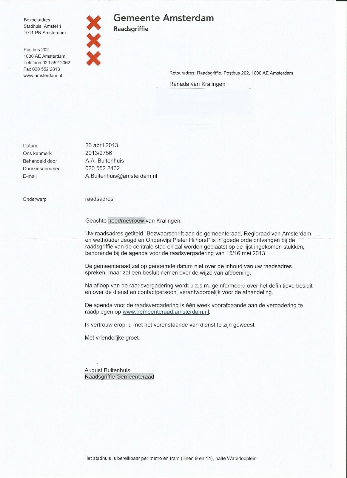 voorbeeldbrief aan gemeente JeugdzDark horse   Archief: Bezwaarschrift aan de Gemeenteraad  voorbeeldbrief aan gemeente