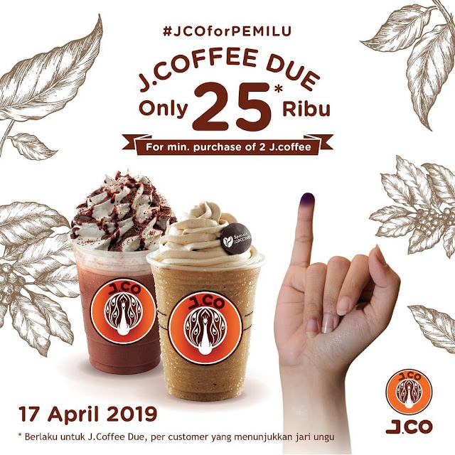 #JCO - #Promo #JCOforPEMILU J.COFFE DUE Hanya 25K (17 April 2019)