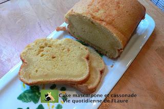 Vie quotidienne de FLaure: Cake mascarpone et cassonade