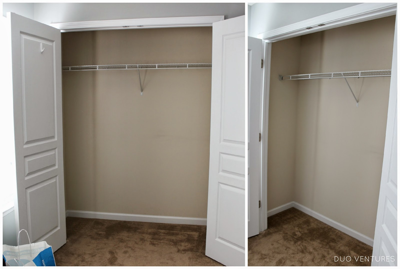 Closet Shelves Duo Ventures Guest Bedroom Closet Organizer Install