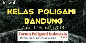 Forum Poligami Indonesia mengadakan event Kelas Poligami di kota Bandung