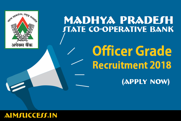 MP State Co-operative Bank Recruitment  Officer Grade (Apply Now)