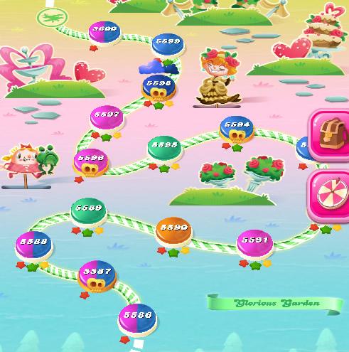 Candy Crush Saga level 5586-5600