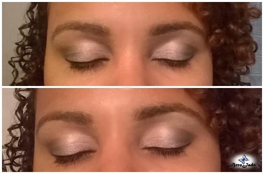 Maquiagem paleta de sombras neutras