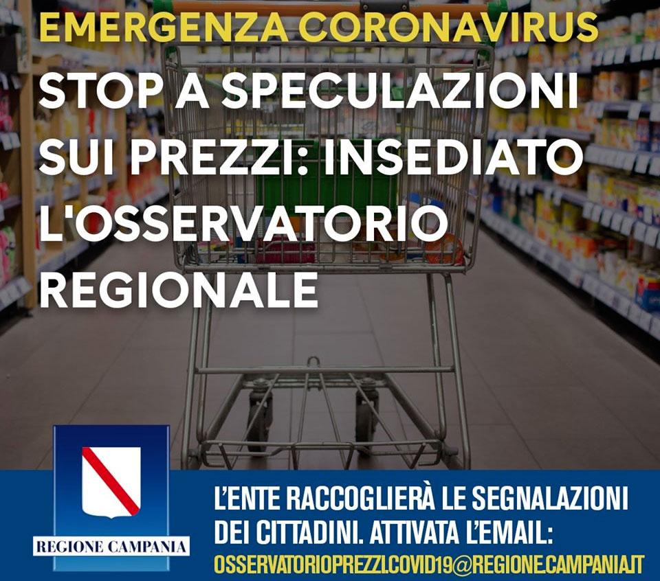Osservatorio prezzi della Regione Campania