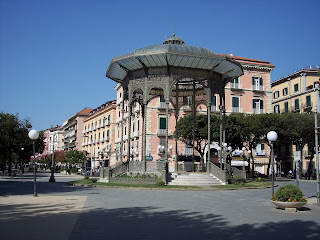 Castellammare di Stabia's bandstand - the cassa armonica -  is a famous landmark in the resort