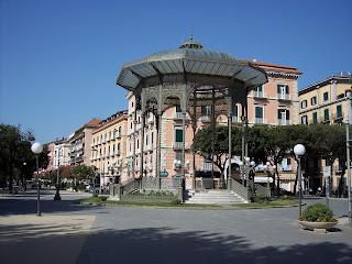 Castellammare di Stabia's bandstand - the cassa armonica -  is a famous landmark in the resort
