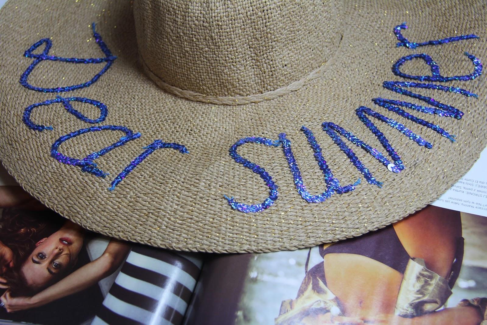 dear summer embroidered straw hat