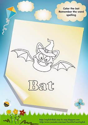 bat coloring, bat inwards the hat