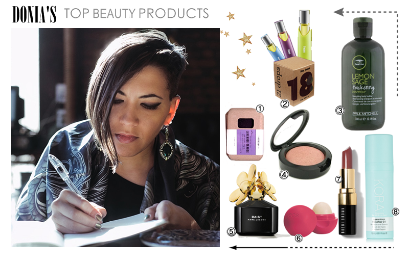 donia khalifa, beauty collage, beauty products, stylish sophisticate, astrologer
