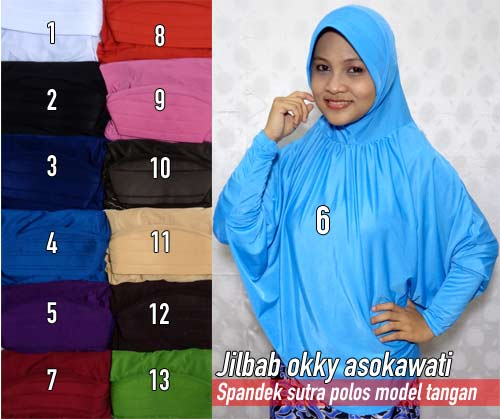 Contoh jilbab syar'i terlaris yang di pakai para artis
