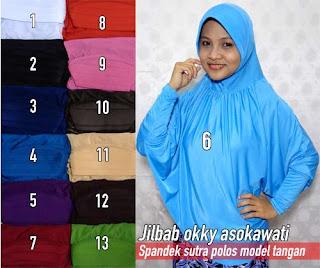 Jilbab panjang model lengan terbaru nan cantik harga murah