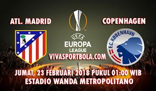 Prediksi Atletico Madrid vs FC Copenhagen 23 Februari 2018