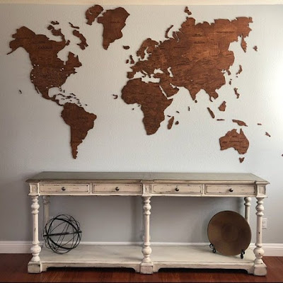 Wooden Wall World Map