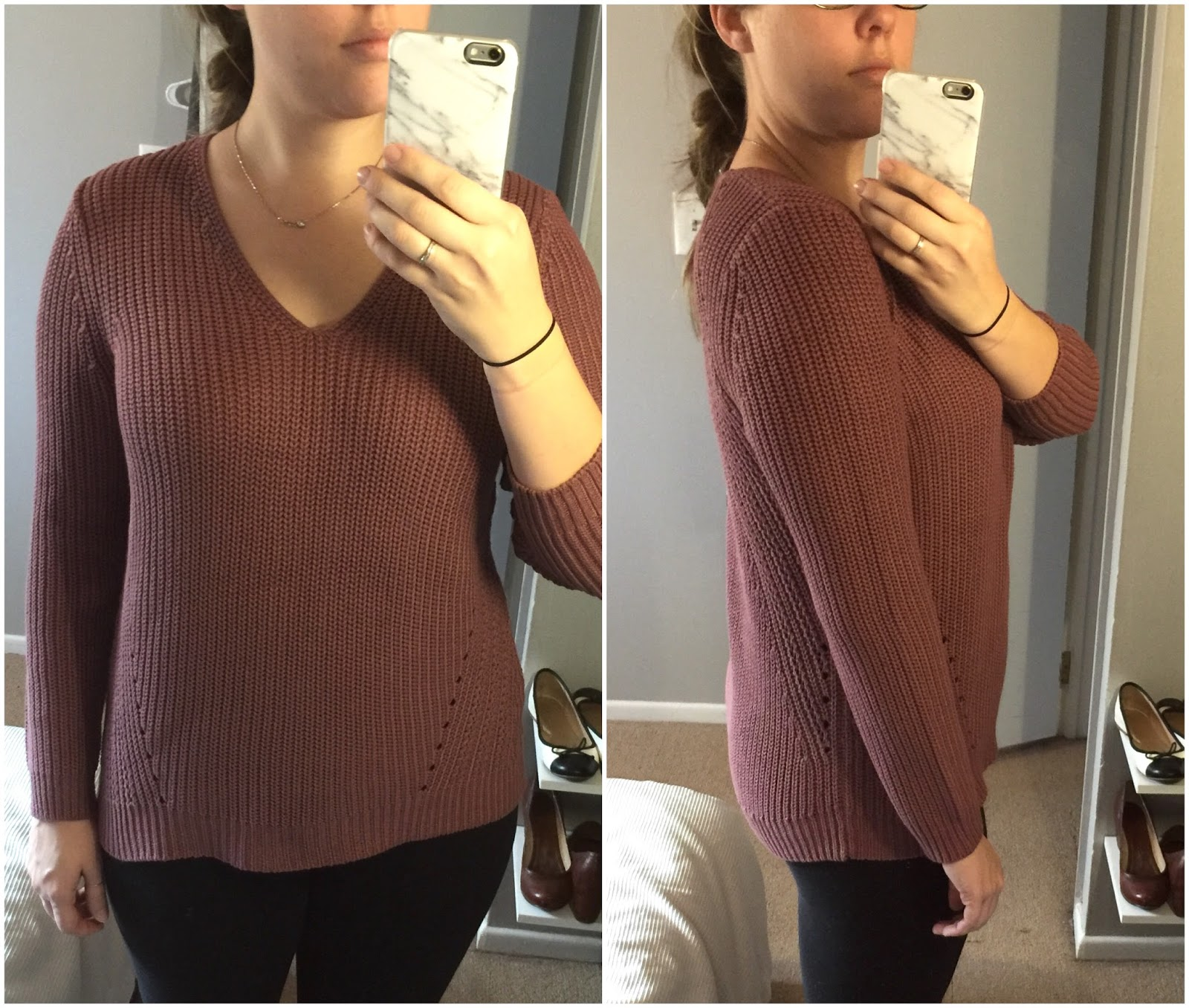 Pointelle Ribbed Sweater