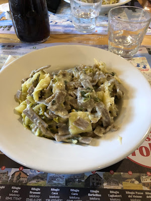 Pizzoccheri at Rifugio Barbellino.