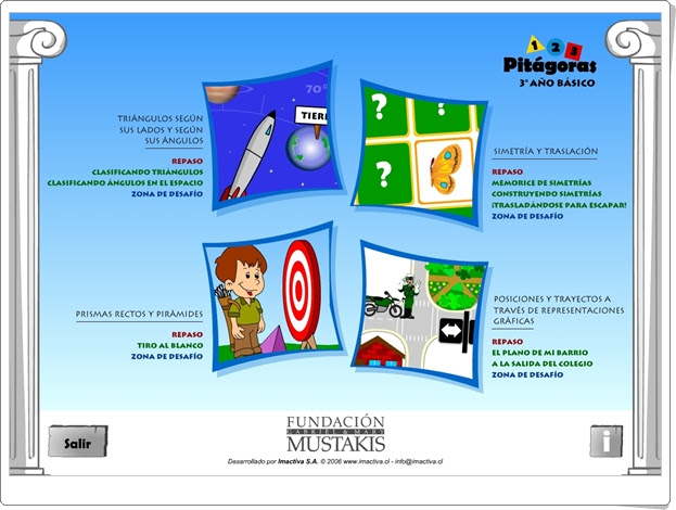 """JUEGOS DE FIN DE CURSO: """"Pitágoras 3"""" (Juegos de Geometría de 3º de Primaria)"""