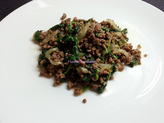 Spinaci e macinato - Spinach and minced meat