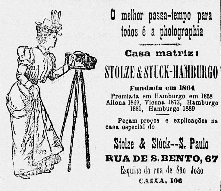 Campanha do começo do século passado promovendo a fotografia como um passatempo