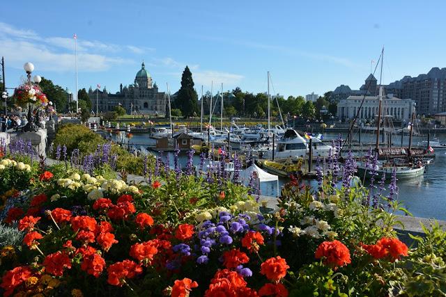 Victoria Island flowers parliament