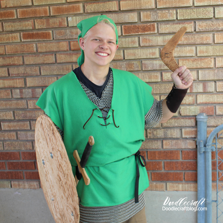 Cosplay contest winner Legend of Zelda video game character Link handmade costume.