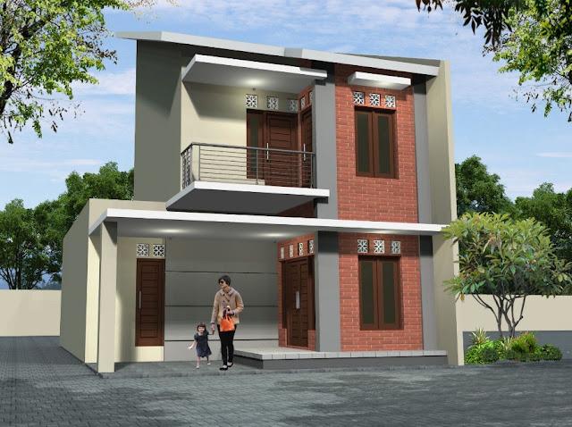 desain rumah petak mungil 2 lantai