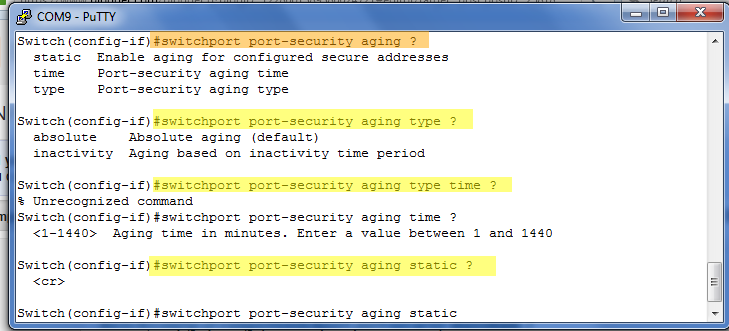 Port Security - CCNP Switch