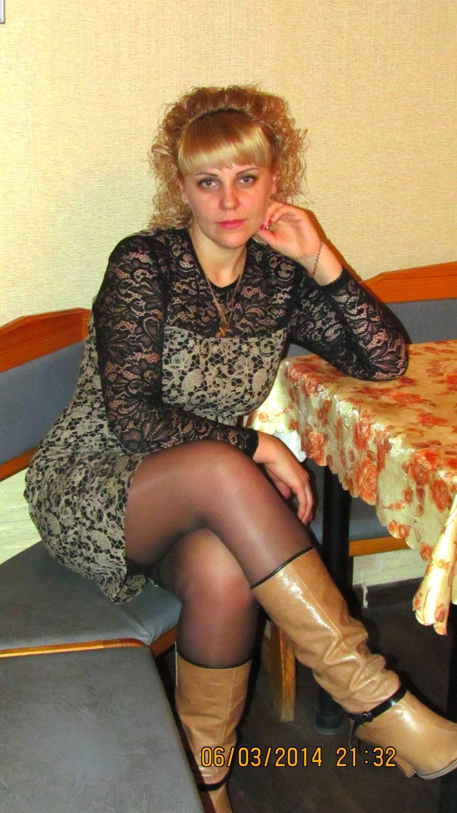 Boots and pantyhose