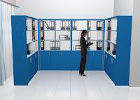 furniture semarang Lemari Dokumen Kantor Pintu Kaca Dengan Roda