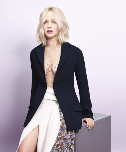 jennifer lawrence sexy models harpers bazaar magazine photo shoot