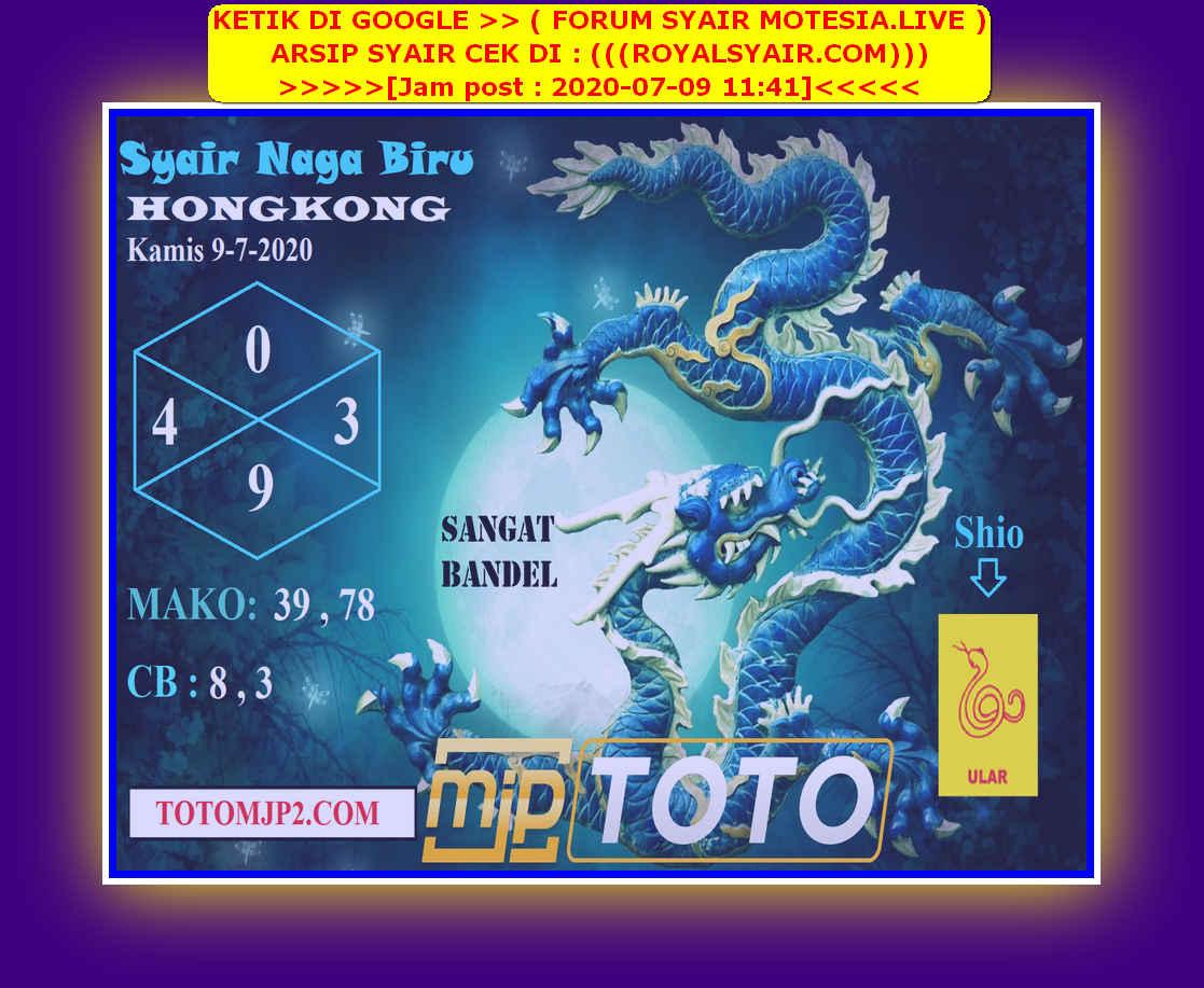 Kode syair Hongkong Kamis 9 Juli 2020 280