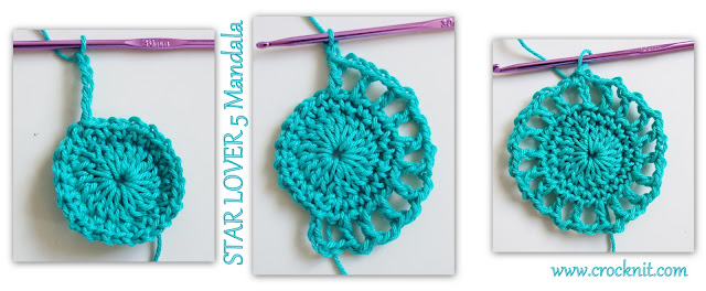 how to crochet, free crochet patterns, mandalas, stars,