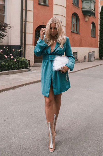 20+ Great Fall Outfits You should Already Own | Petrol Blazer Dress