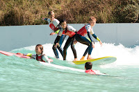 Surfschool having fun at Wavegarden Cove
