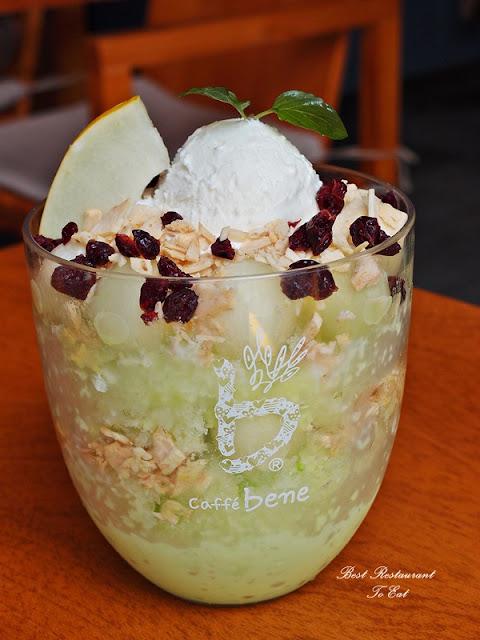 Caffe Bene Melon Smile Promotion Melon Yoghurt Bingsu