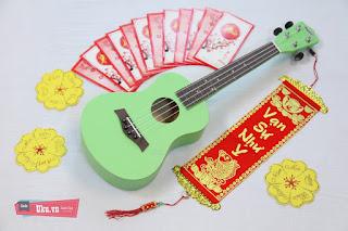 Ukulele concert xanh lá