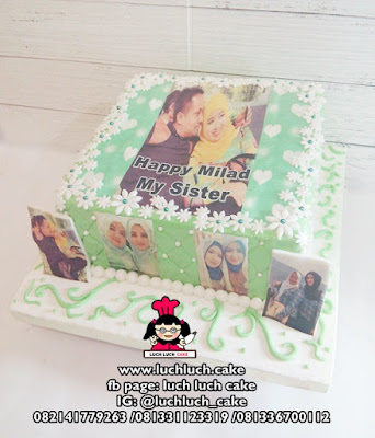 Kue Tart Edible Foto Romantis Anniversary