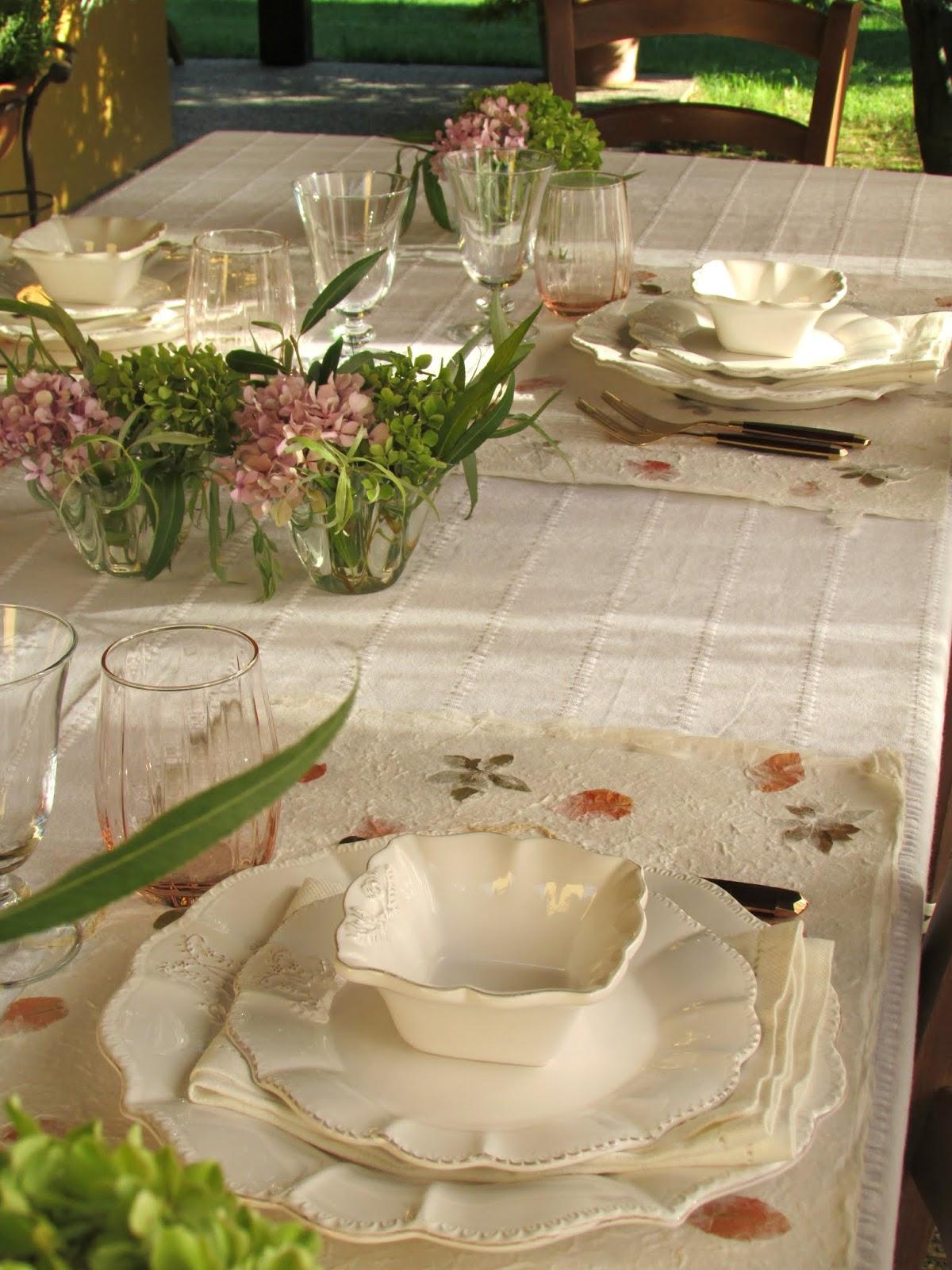 tavola in giardino