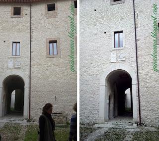 Interior do castelo Medieval dos arredores de Roma