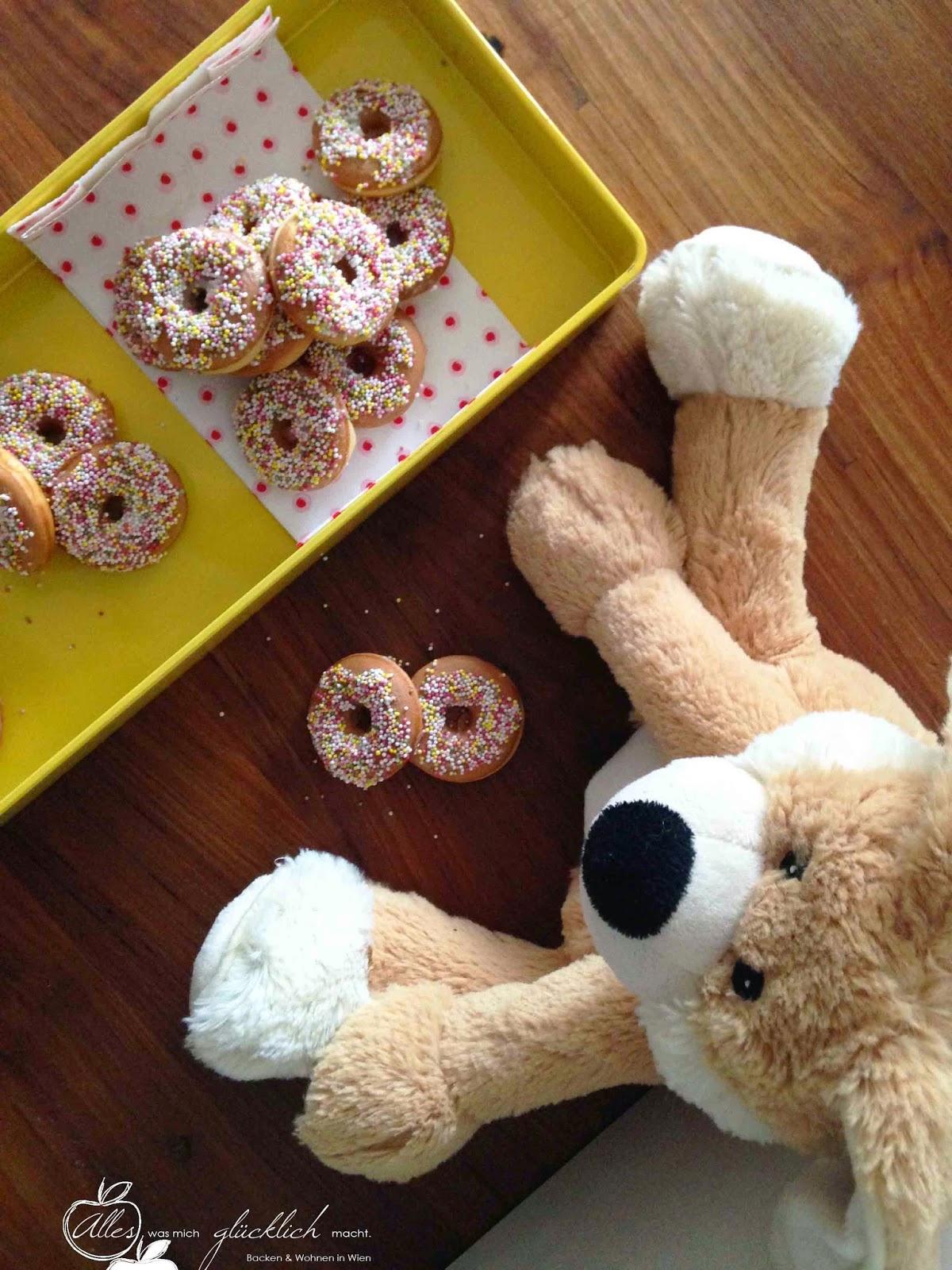 Bunte Mini Donuts